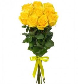 Yellow Roses with Ribbon