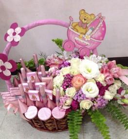 Welcome Girl Basket