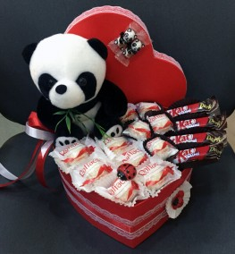Panda with Sweets