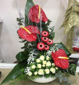 Новогодние цветы-022