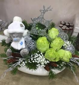 Новогодние цветы-024